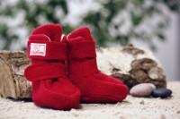 Socken Puschen Stiefelchen aus Wolle und Wolle/Seide
