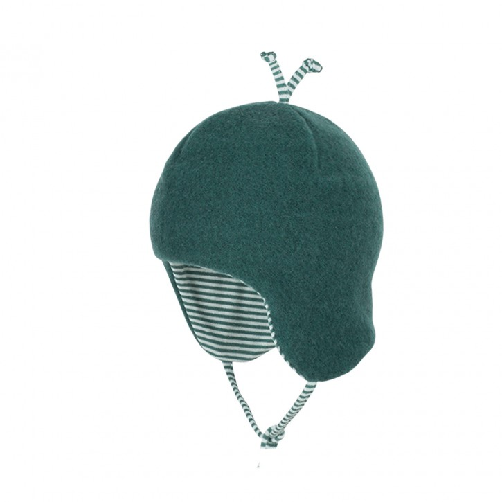 Baby-Binde Mütze smoke green