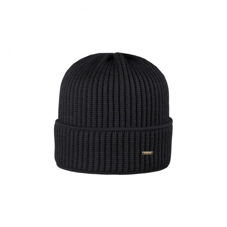 Erwachsenen Merino Mütze schwarz
