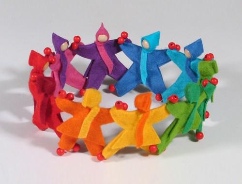 Mitfahrpüppchen regenbogenfarben