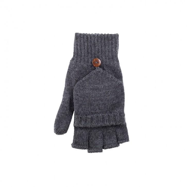 Halbfinger Handschuhe /Faust für Kinder anthrazit