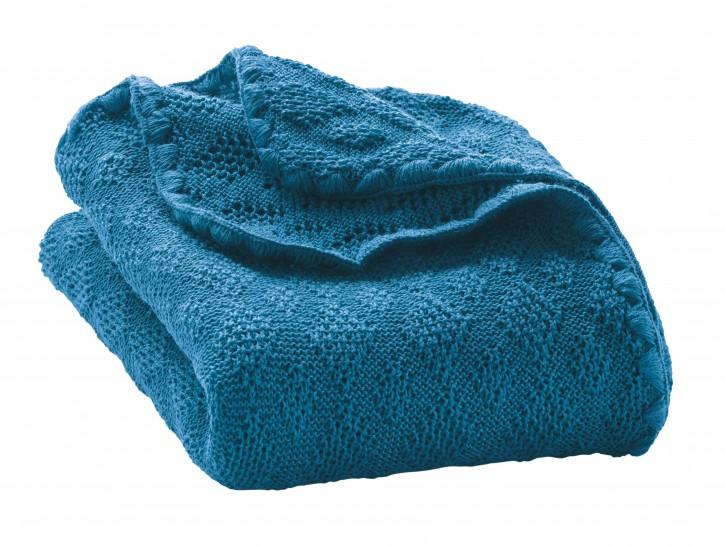 disana Woll-Babydecke blau