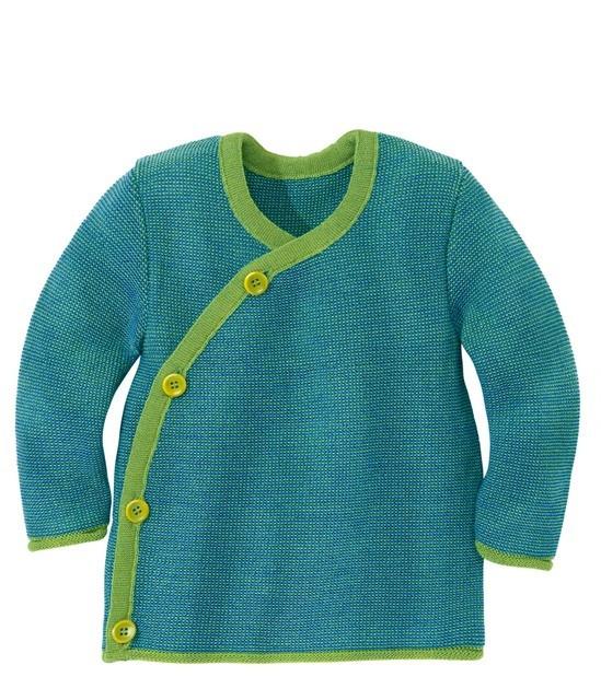 disana Melange Jacke grün-blau / 62/68
