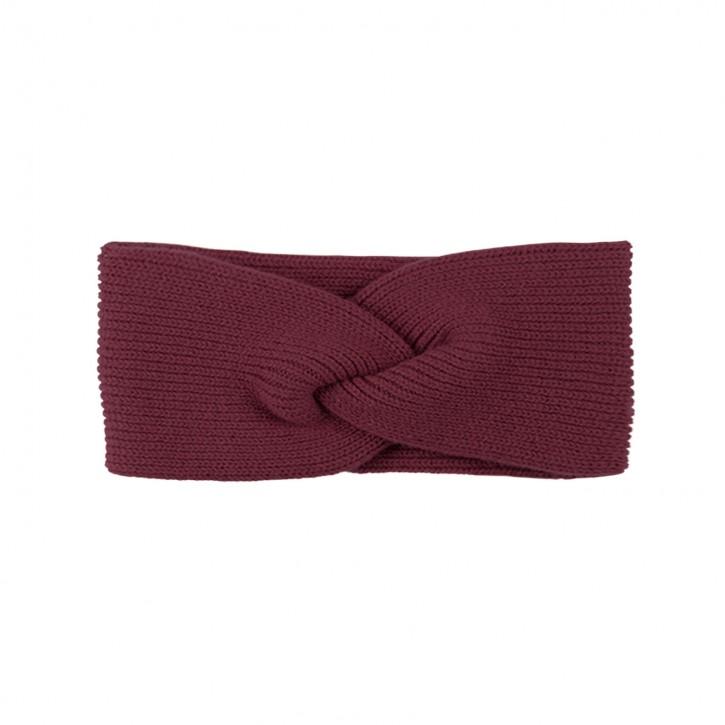 Damen Stirnband mit Kaschmir burgundy