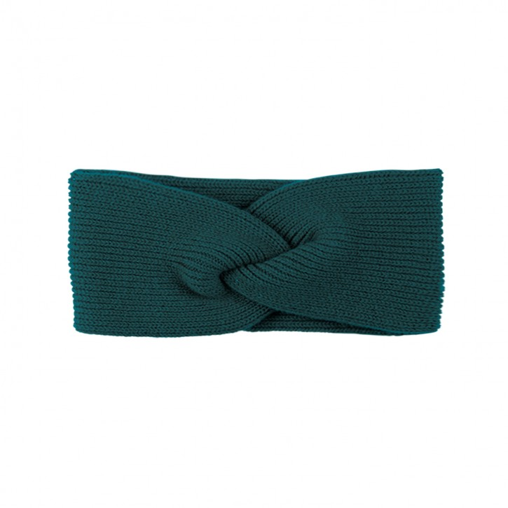 Damen Stirnband mit Kaschmir smoke green