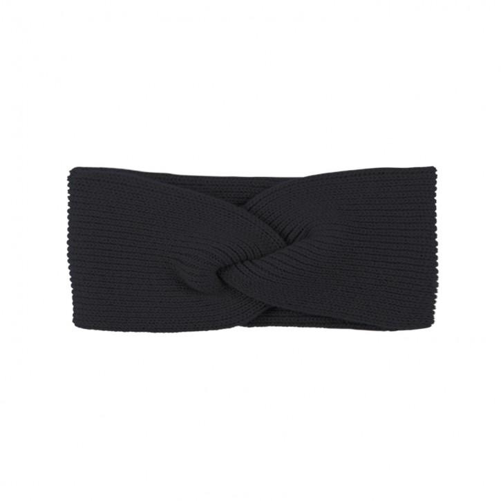 Damen Stirnband mit Kaschmir schwarz