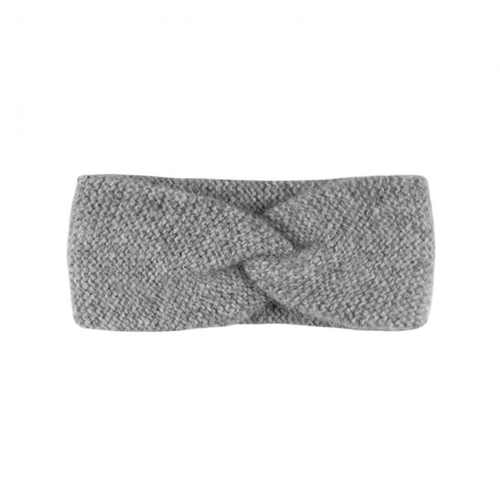 Stirnband für Damen mit Babyalpaka graumelange