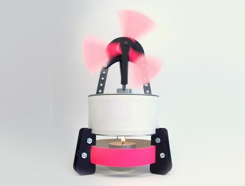 Stirling Motor mit Teelicht
