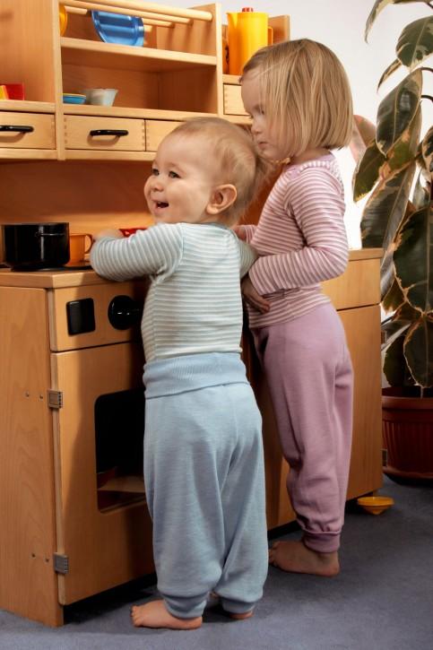 Baby Hose mit Nabelbund Wolle /Seide