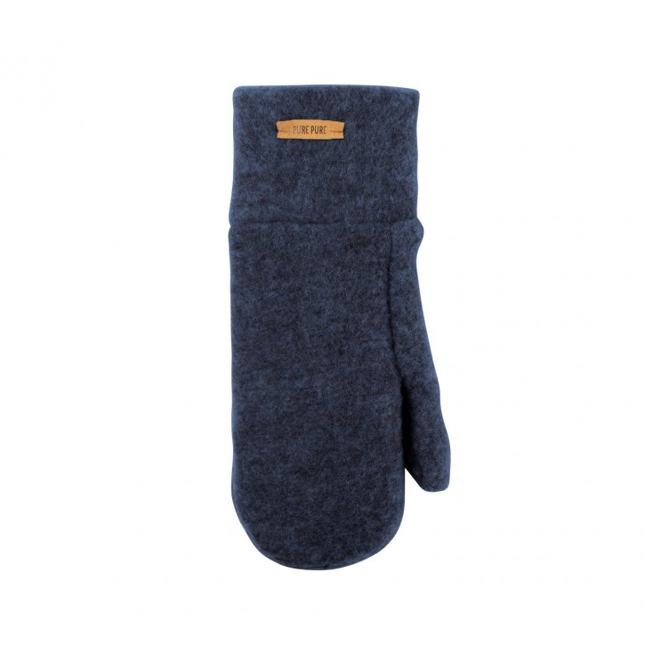 Wollfleece Fäustlinge jeansblau