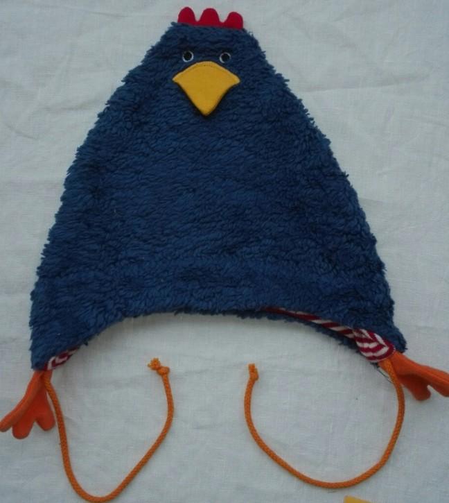 Mütze Huhn Erna uni blau