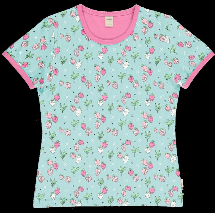 Damen T-shirt Erdbeere