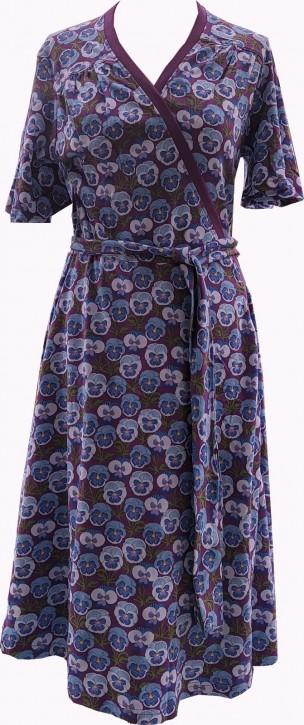 Wickelkleid lila Stiefmütterchen / Wrap dress