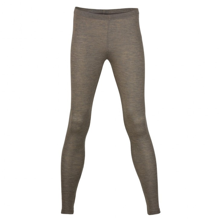 Damen Leggings  walnuss  Wolle/Seide