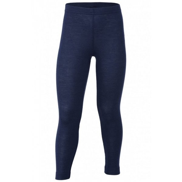 Damen Leggings       Wolle/Seide marine