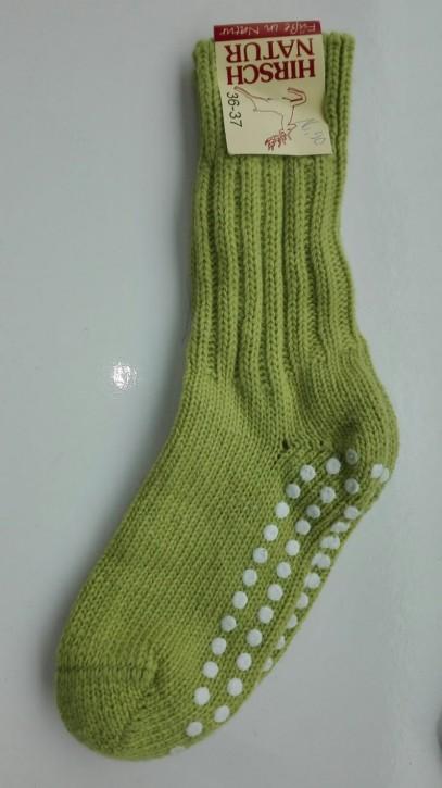 extradicke flauschige Socke mit Stopper kiwi