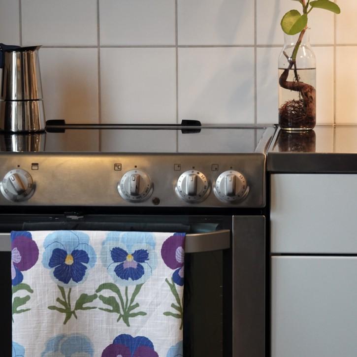 Geschirrhandtücher Stiefmütterchen lila / kitchen towl pansy