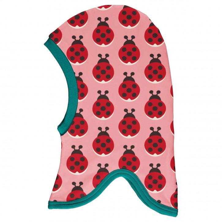 Schlupfmütze velour Marienkäfer balaclava velour ladybug