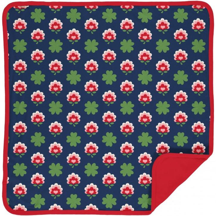 Decke velour Kleeblatt   blanket velour clover