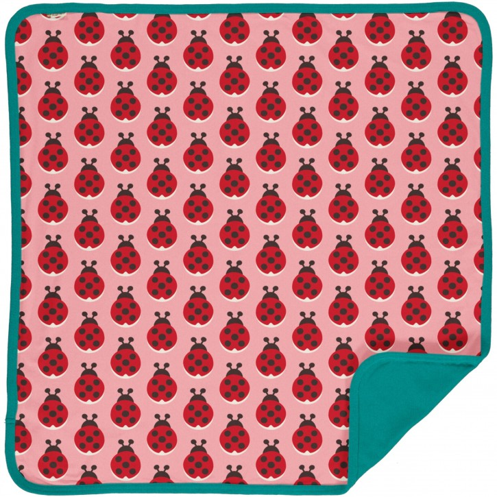 Decke velour Marienkäfer blanket velour ladybug