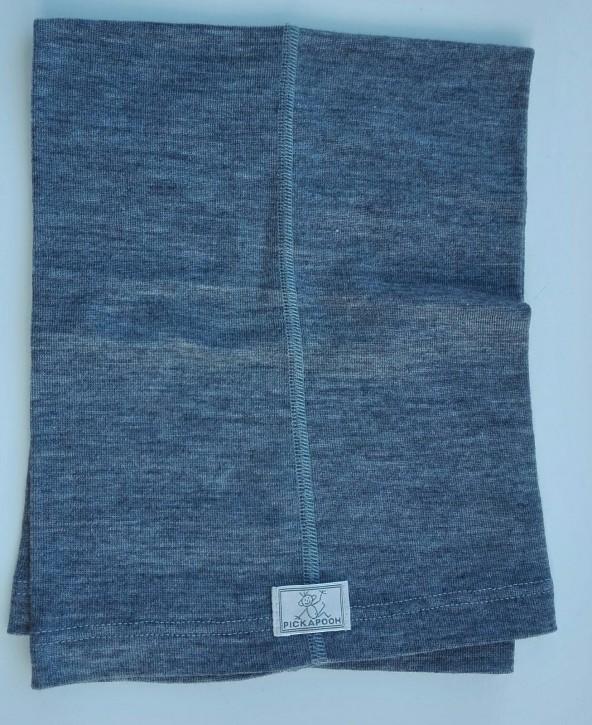 Schlauchtuch Strunzl Wolle Seide grau