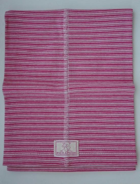 Schlauchtuch Strunzl Bio Baumwolle rose fein geringelt
