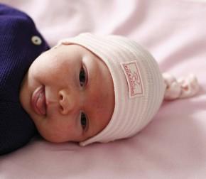 Babymütze Paula in vielen Farben bleu mint natur / 34