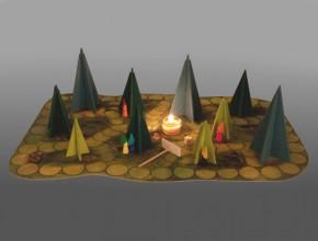 Märchenhaftes Waldschattenspiel