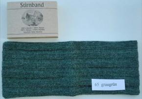 Stirnband Baby Alpaka  Ripp-Optik 21 maisgelb